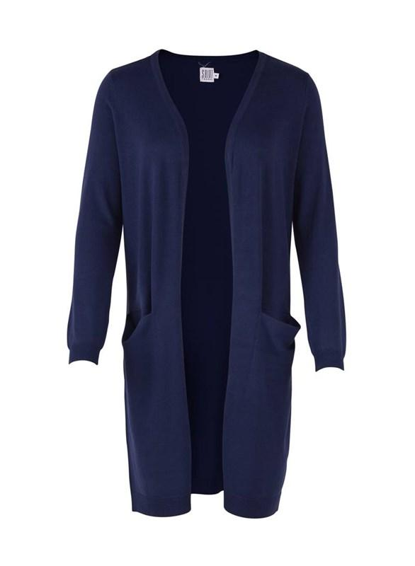Long Cardigan With Pockets - Blue