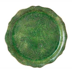 ROUND SERVING PLATE/PIZZA PLATE, SEAWEED