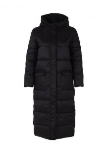 Long Padded Coat - Black