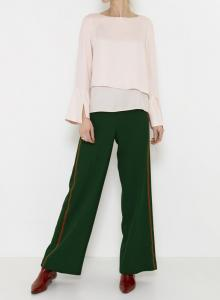 Classic Pants With Side Tape - Green