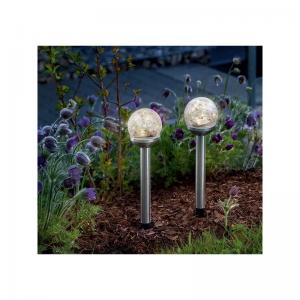 Solcellslampor Crystal Ball 2-Pack