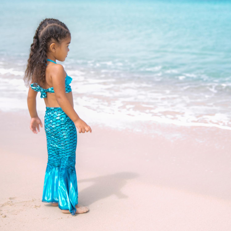 Sjöjungfrudräkt för små barn | Simma som en sjöjungfru med