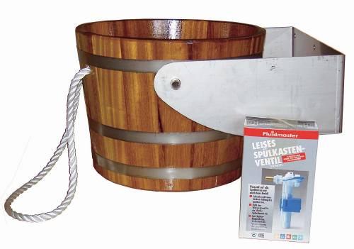 Tipping shower bucket
