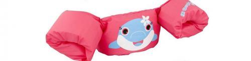 Armkuddar med midjebälte, Dolphin rosa Puddle Jumper