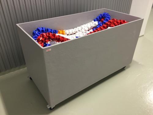 Line storage in fiberglass