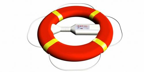Lifebuoy Red (m) warning yellow reflexes