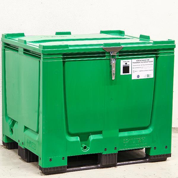 Linförvaring Stor Box Grön 900 L 1200 x 1000 x 1000 mm