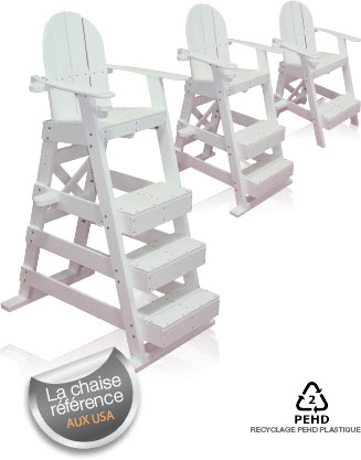 Bevakningstol i plast m 3 steg