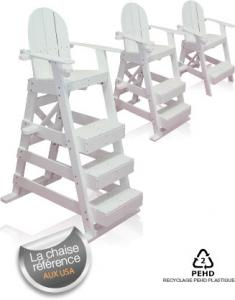 Lifeguard chair with 3 steps