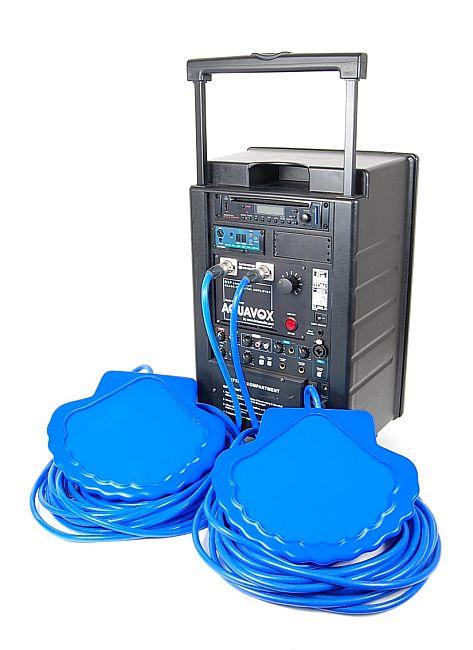 Aquavox inkl. headset, Musikanläggning