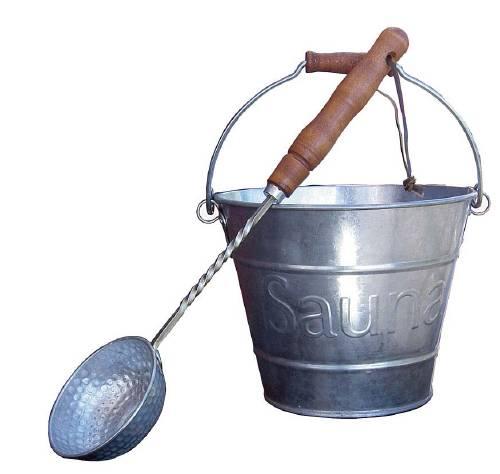 Zinc bucket with scoop