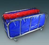 Line trolley with PVC-fabric