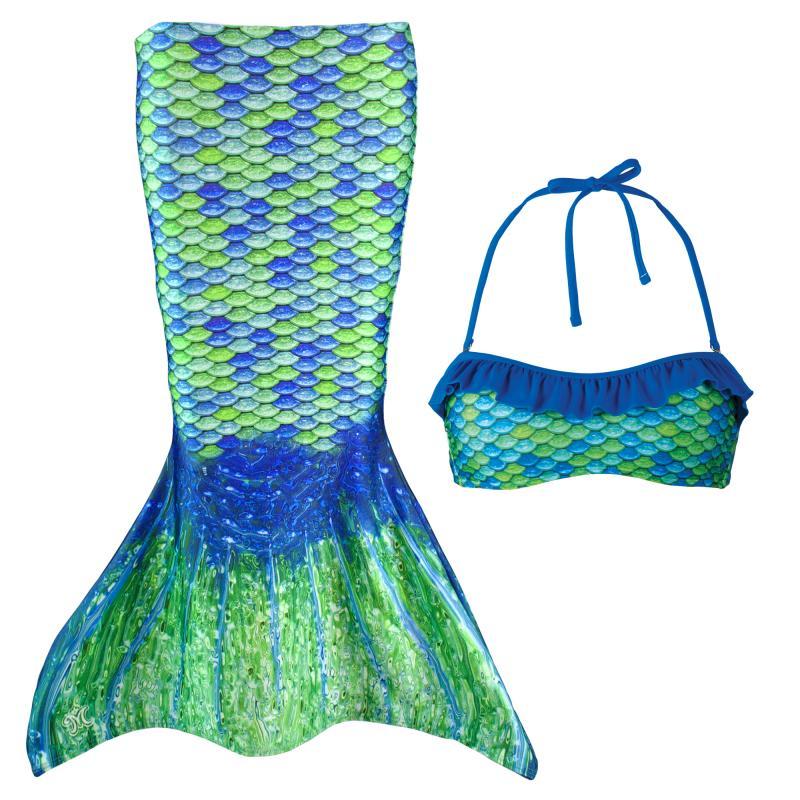 Sjöjungfru kjol barn, Grön