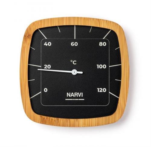 Bastutermometer i Aluminium/bambu