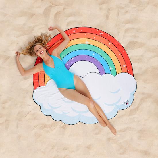 Strandhandduk - Regnbåge