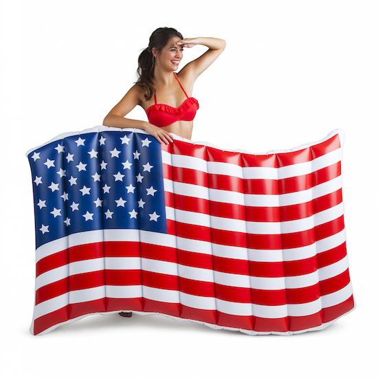 Inflatable lilo: American Flag