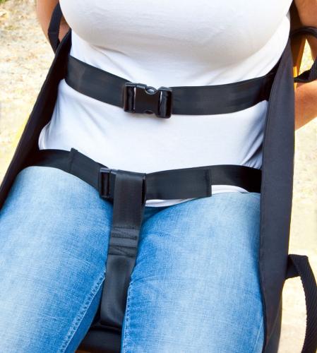 Bärsits bad tillbehör bröst/midje-grenband och snäpplås