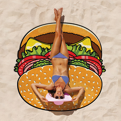 Beach towel - Hamburger