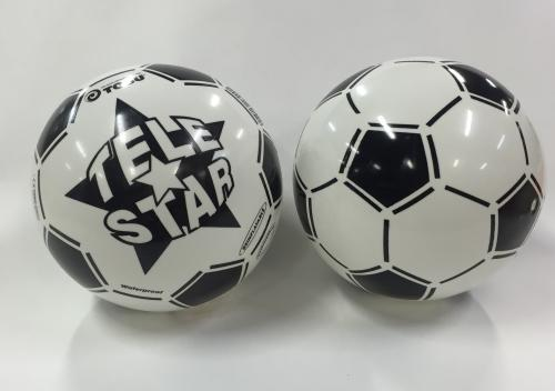 Plastic ball with football theme
