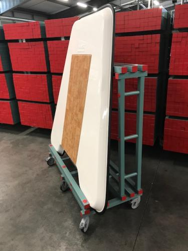 Trolly for ice floe eckl plastictray 1500x 715/300x1560 mm (LxDxH)