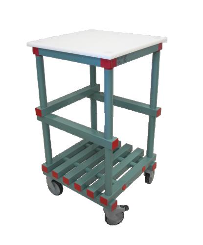 Bord för avlastning inkl toppskiva 600x600x1080 mm (bxdxh)