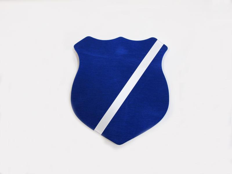 Märkessköld färg blå