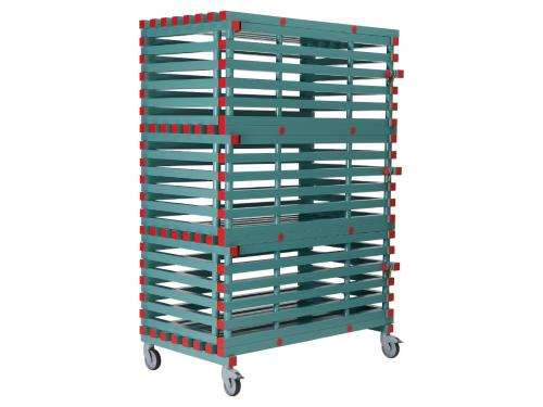 Shelf with three lockable doors 1200x600x1750 mm