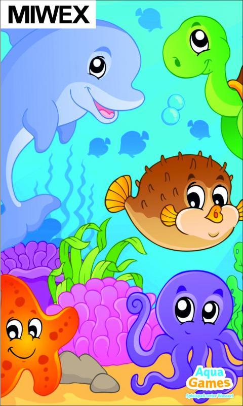 Puzzle underwater, animal motive 1500 x 900 mm
