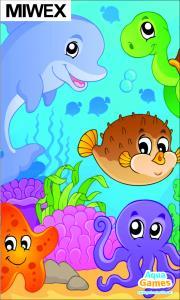 Pussel under vattnet, djurmotiv 1500 x 900 mm