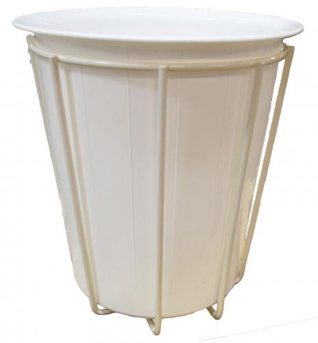 Litter bin holder White varnished incl. plastic bucket