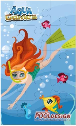 Pussel under vattnet, dykare 1500 x 900 mm