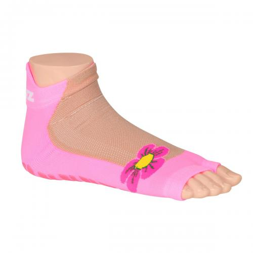 Non-Slippery Socks Pink Flower