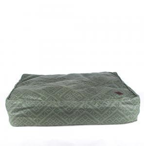 Överdrag i ett olivfärgat hållbart canvastyg med smutsavvisande egenskaper. Passar till Miwo Design Cossi hundbädd.