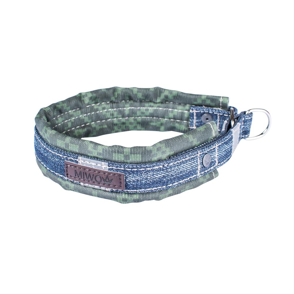 Miwo® Nomi Hundhalsband Olive Print
