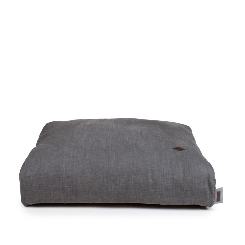 Exklusivt överdrag i Franskt Grått tyg i 100% linne av högsta kvalitet. Passar till Cossi hundbädd. Tillverkad av Miwo Design.