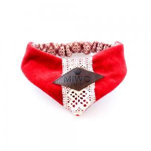 Miwo® Kila Jul Scarf Röd Sammet med Spets