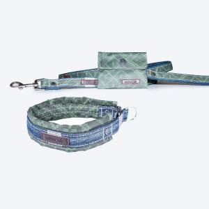 Miwo® Mila Koppel Olive Print + Hundhalsband på köpet