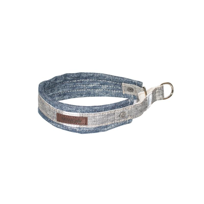 Miwo® Nomi Hundhalsband Denim/Salt & Pepper