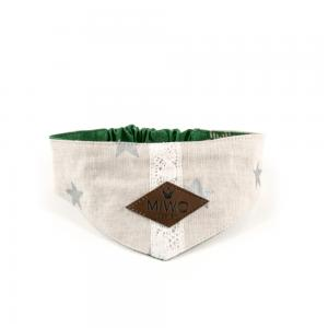 Miwo® Kila Christmas Bandana Green/Beige Stars
