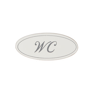 Träskylt WC 9cm