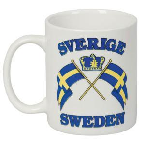 Mugg Sverige flaggor