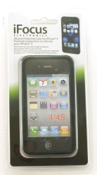 Skydd Silikon Svart Iphone 4/4S