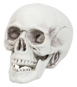 Dödskalle plast dekoration