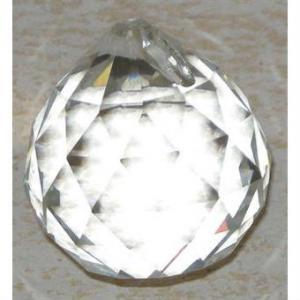 Glas Kristall Kula 3cm
