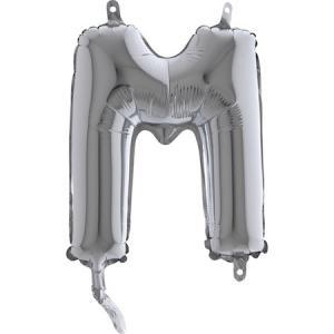 Bokstavsballonger Silver 35cm