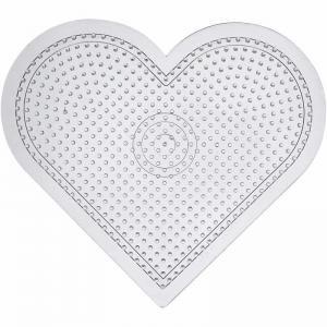 Pärlplatta hjärta H:15cm