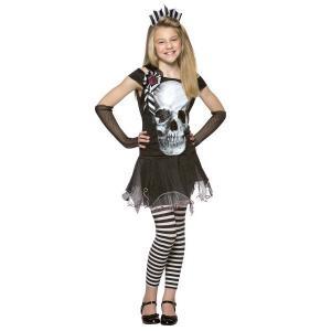 Dräkt barn Skelettklänning