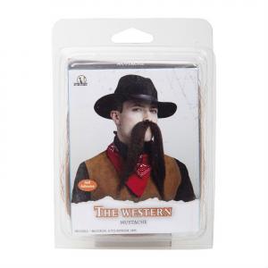 Mustasch Western för cowboy