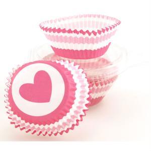 Bakform muffins rosa hjärtan 50 pack