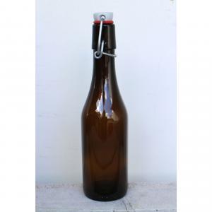 Glasflaska mörk för Öl och Must 33cl
